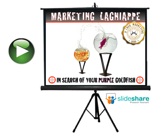marketing lagniappe purple goldfish presentation